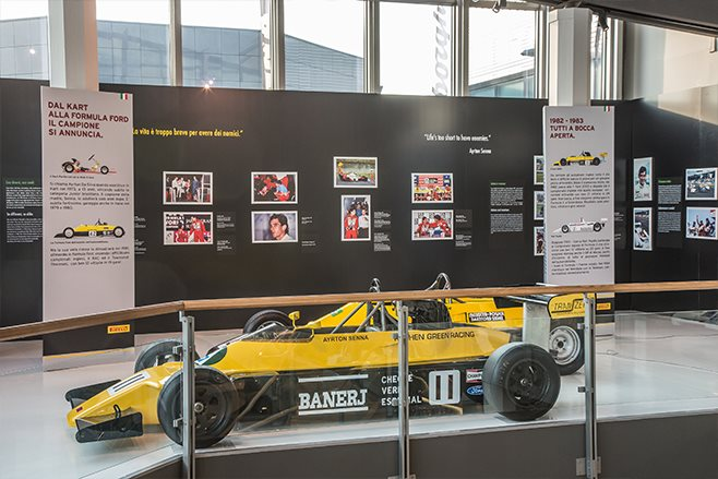 Ayrton Senna exhibition at Lamborghini Museum