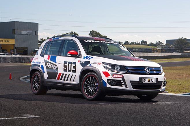 Volkswagen Tiguan race track