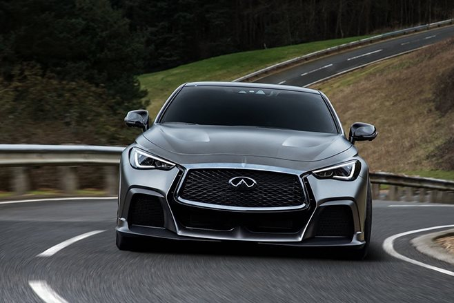 2017 Infiniti Q60 Project Black S Concept driving front