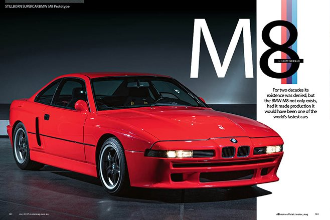 MOTOR BMW M8 feature