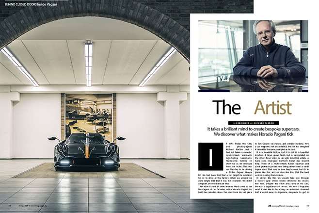 MOTOR Horacio Pagani interview feature