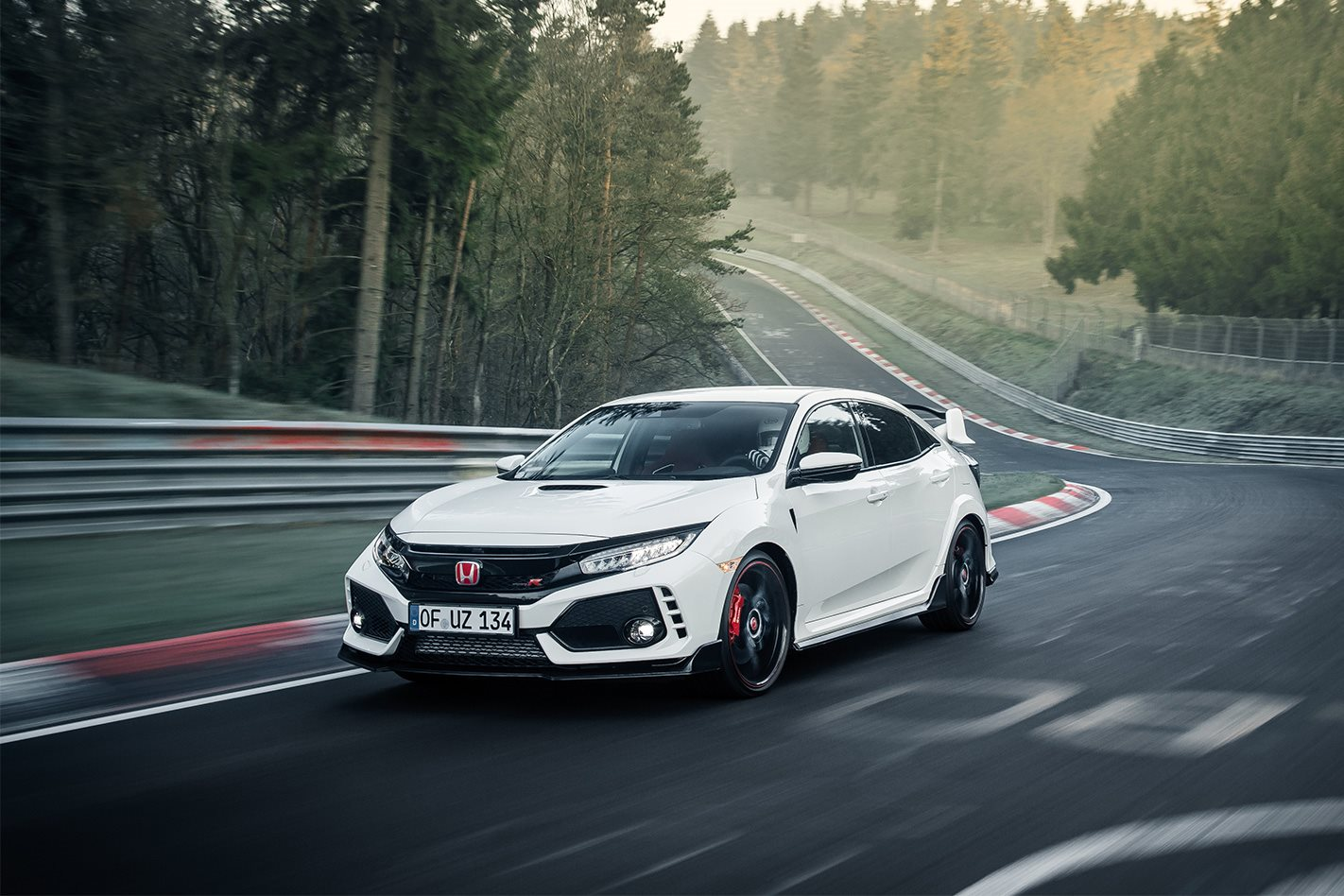 2017 honda civic type r smashes nurburgring lap record