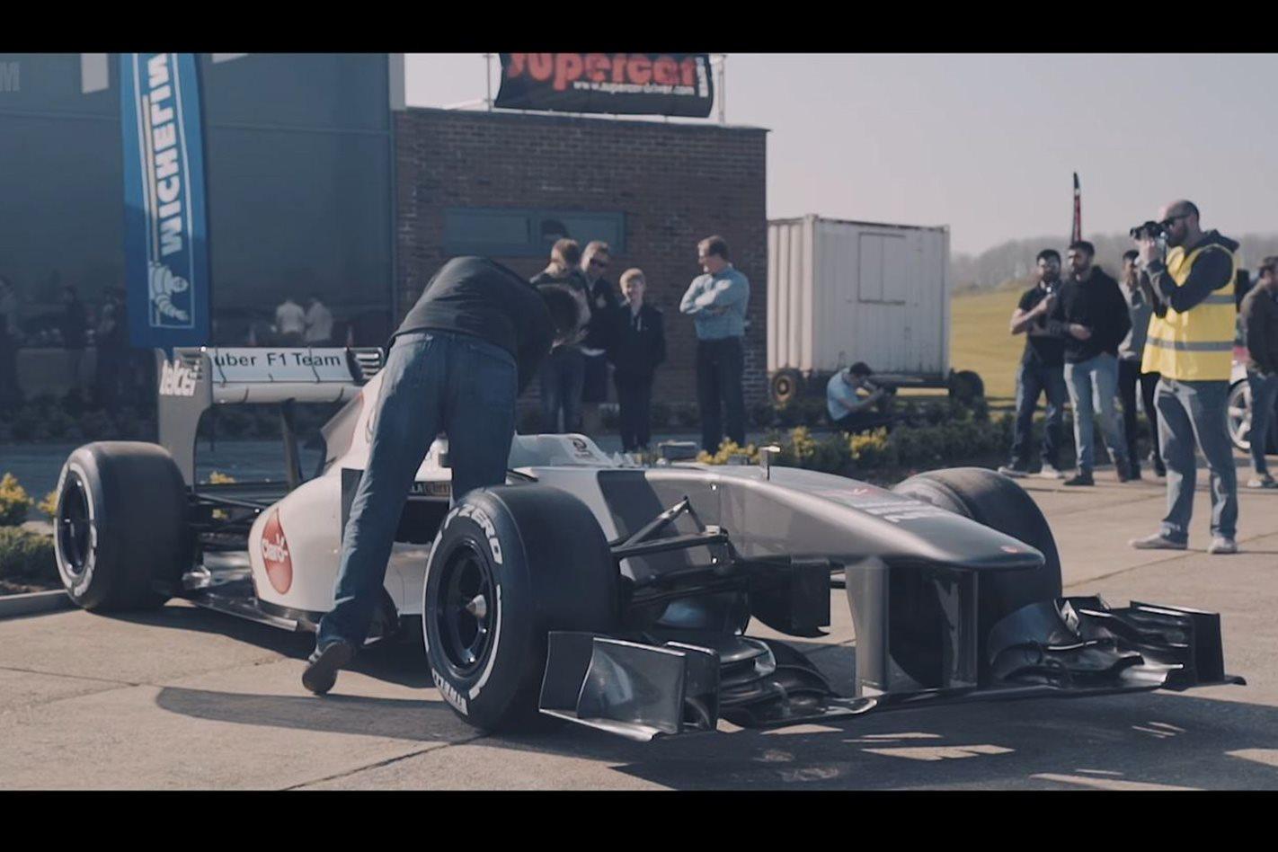 Supercar Driver Secret Supercar Meet Sauber F1