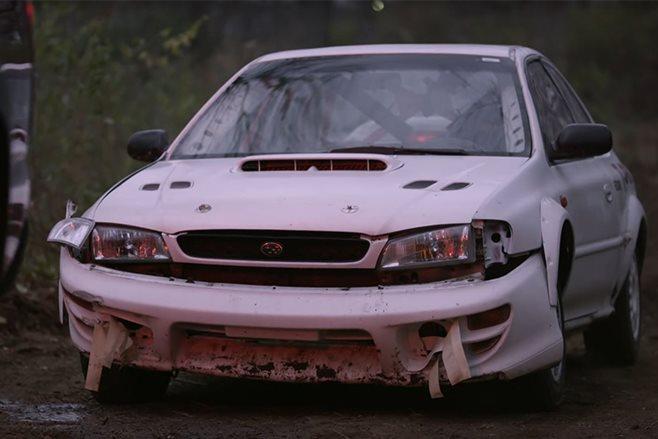 Tyler Witte crashed Subaru Impreza