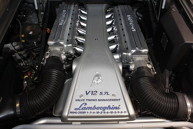 1999 Lamborghini Diablo SV Roadster RHD engine
