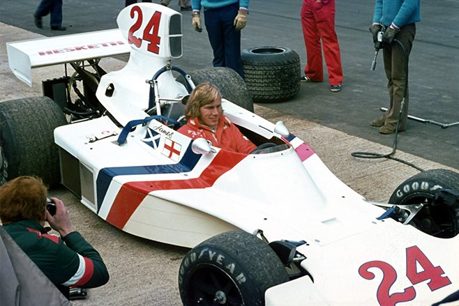 James Hunt in Hesketh 308B