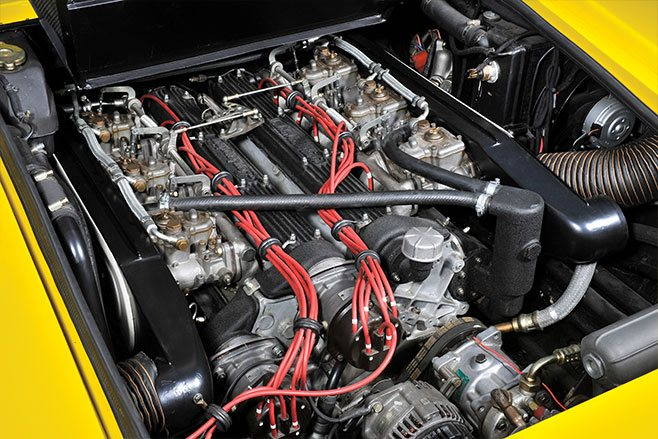 1975 Lamborghini Countach LP400 V12 engine