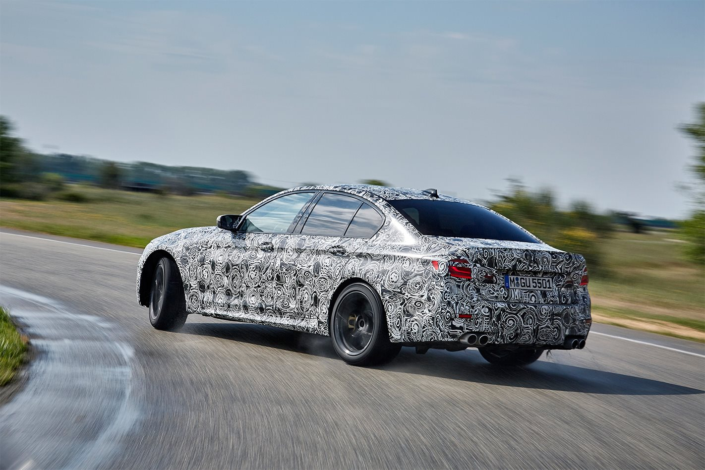 2018 BMW M5 rear drift