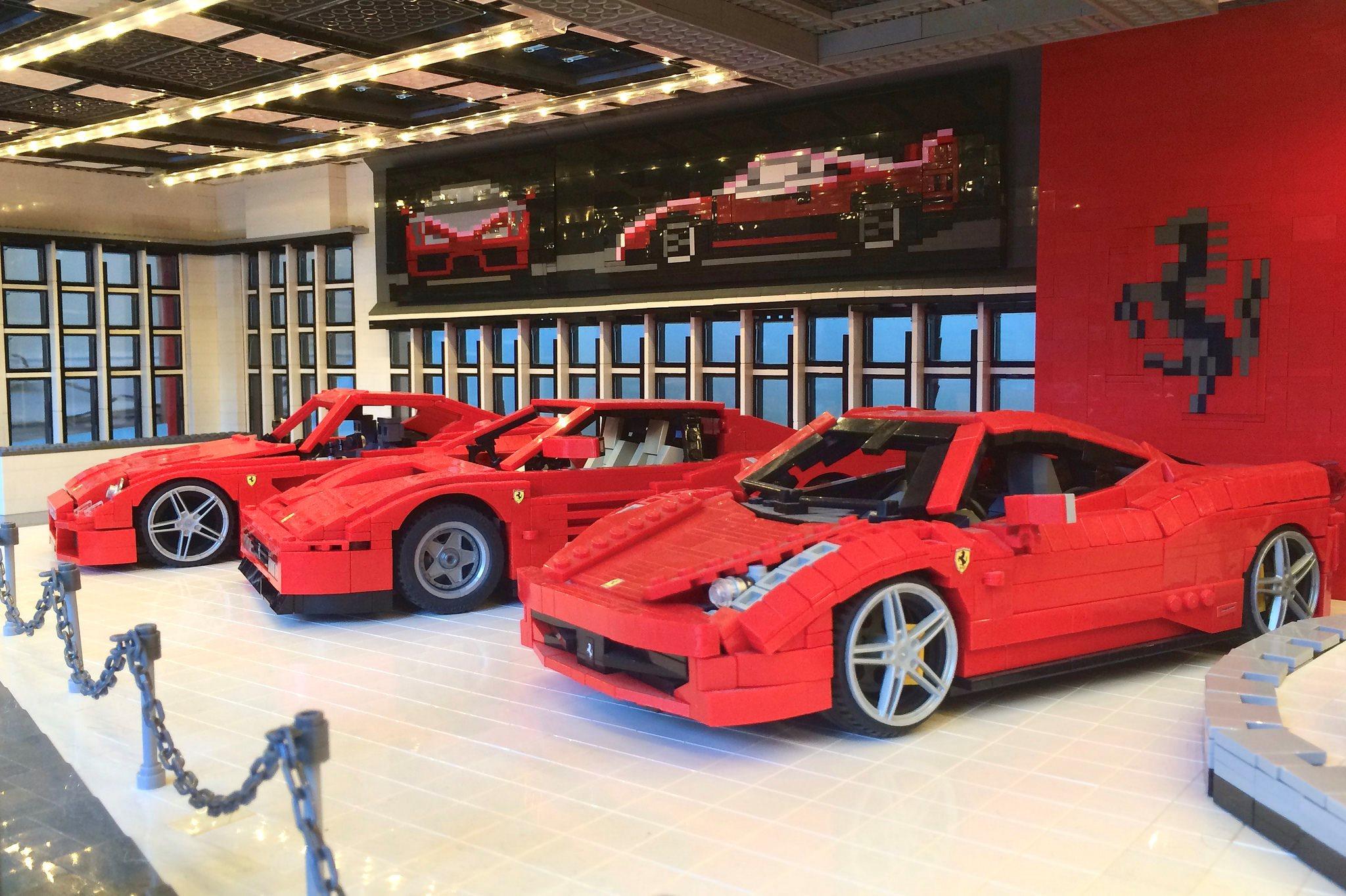 Lego Ferrari dealership cars