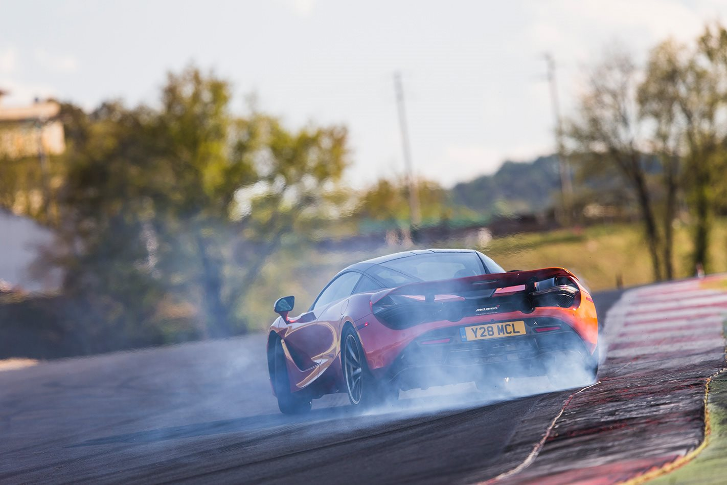 2017 McLaren 720S review smoke