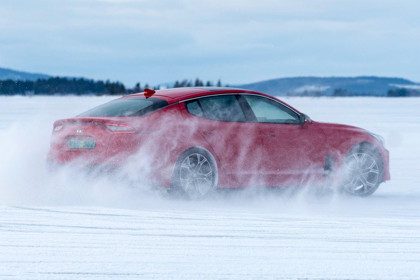 2018 Kia Stinger GT snow testing