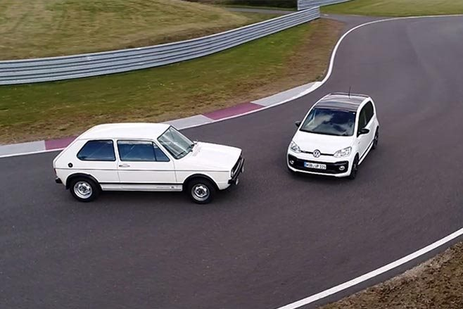 2018 VW Up GTI and VW Golf Mk1 GTI