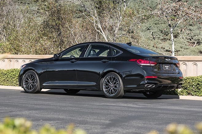 2018 genesis twin turbo. unique twin genesisg80_33t_sport2018rear with 2018 genesis twin turbo