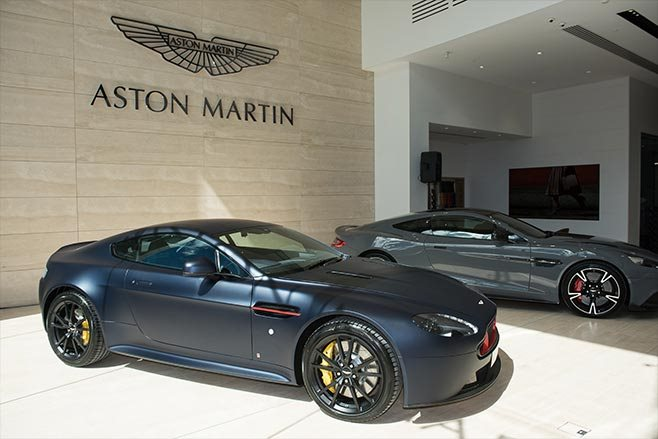 Aston Martin dealership Swan st Melbourne