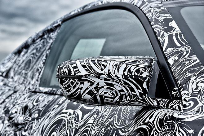 2018 BMW M8 prototype mirror