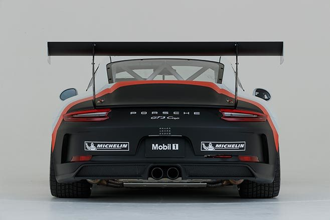 New Porsche GT3 car rear