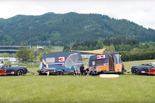 red bull racing caravans verstappen ricciardo