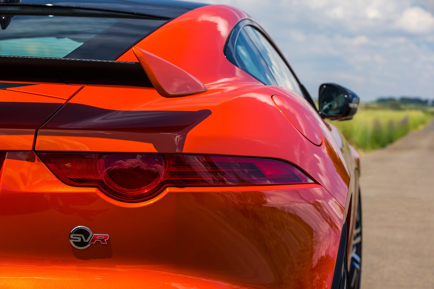 2017 Jaguar F-Type SVR close up