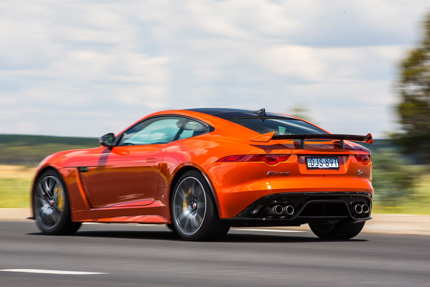 2017 Jaguar F-Type SVR rear