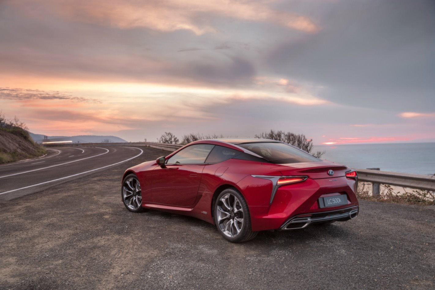 2018 Lexus LC 500 rear static