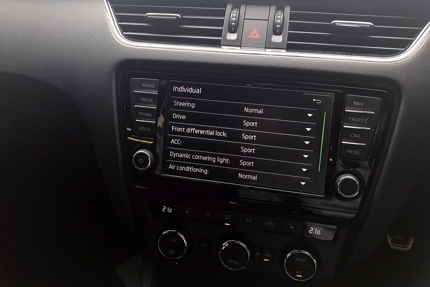 2017 Skoda Octavia RS230 dash