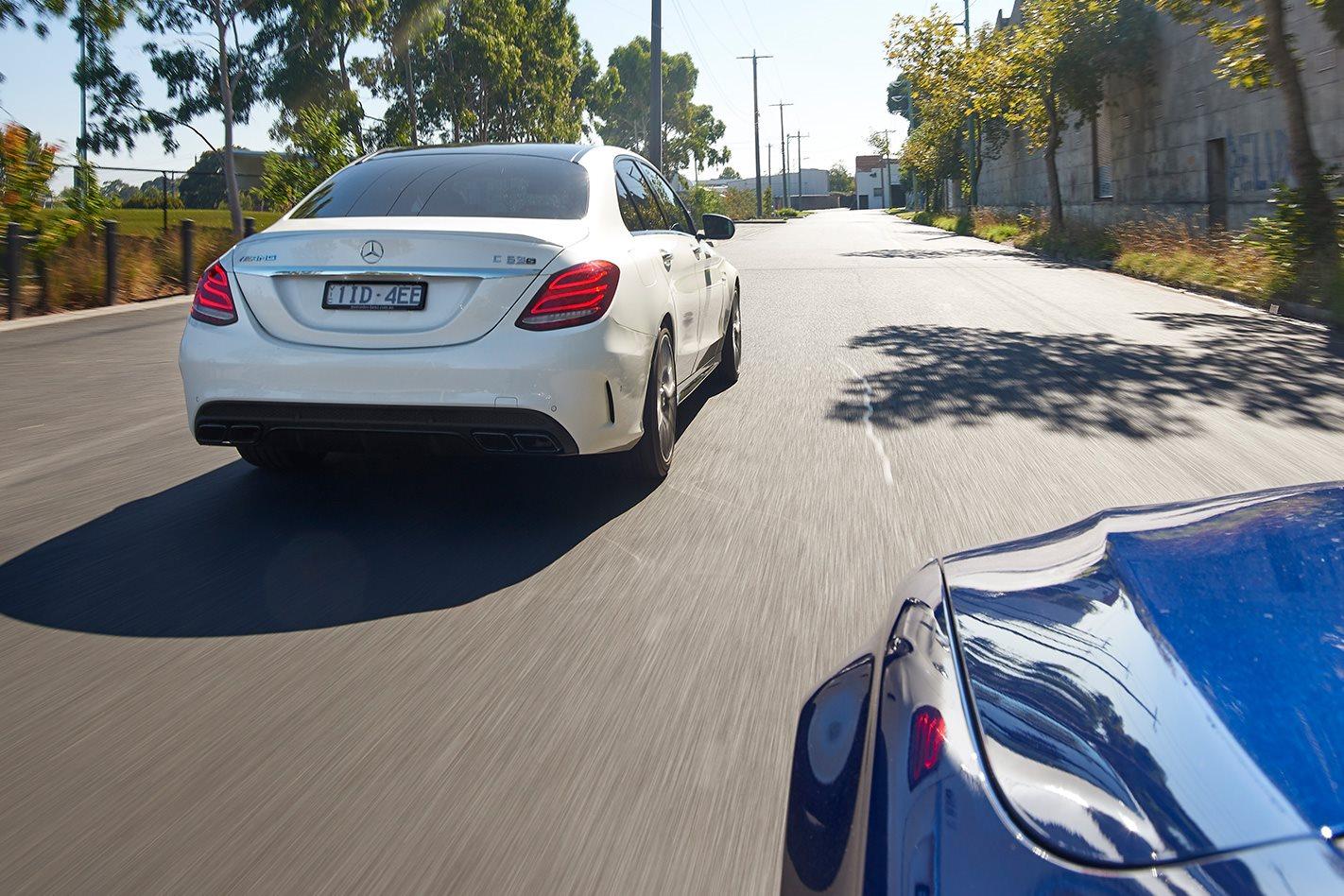 Mercedes AMG C63 rear