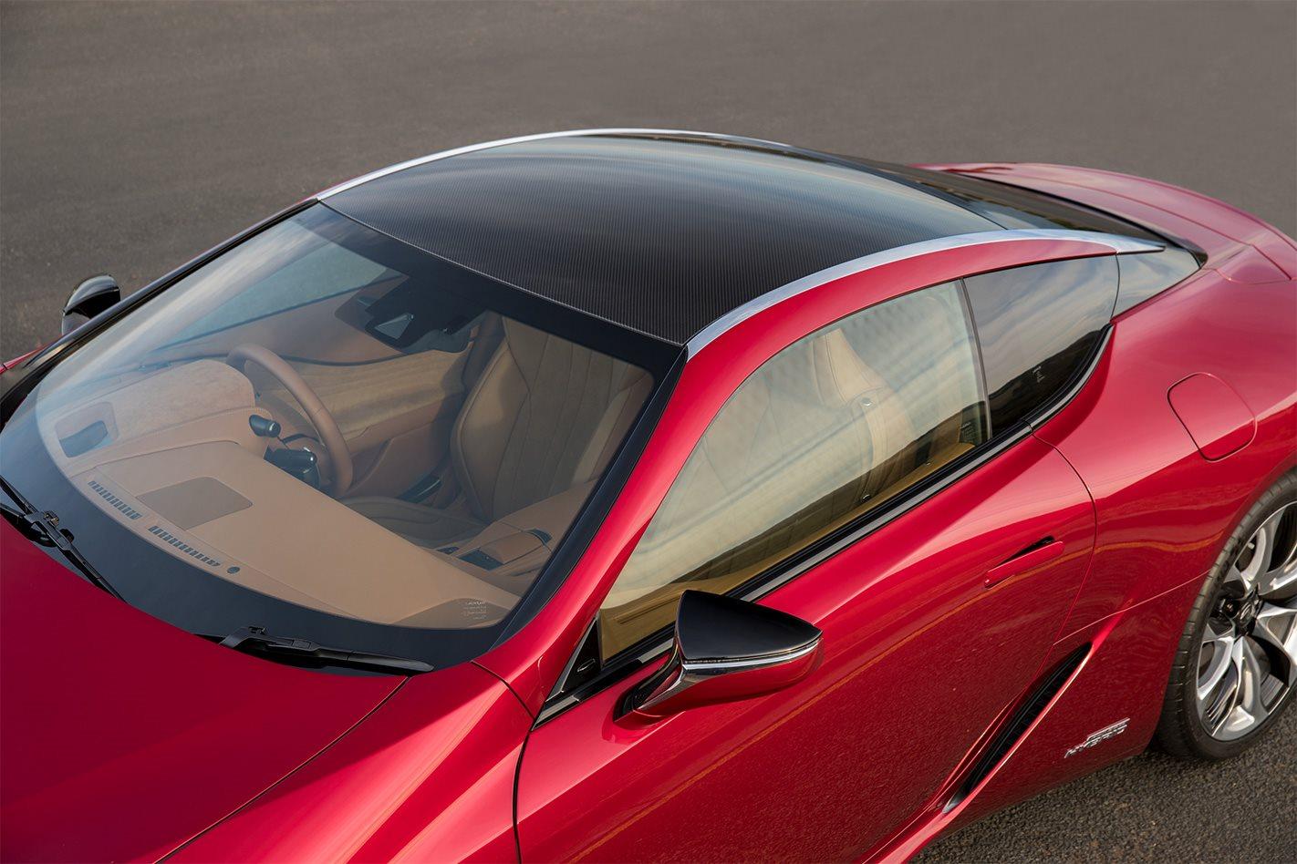 2018 Lexus LC 500 Hybrid roof