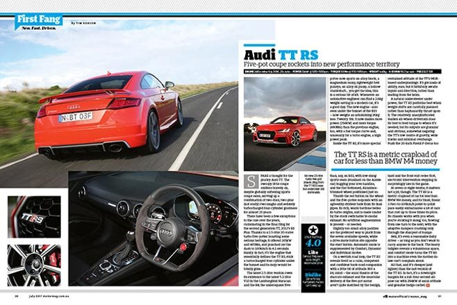 MOTOR july 2017 Audi TT RS