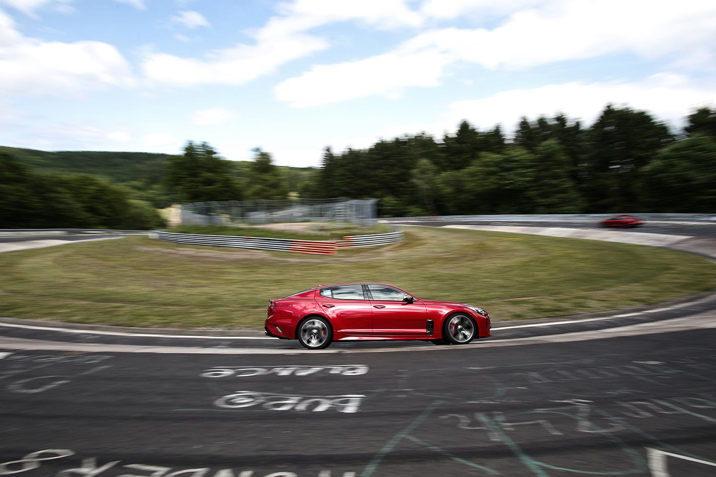 2017 Kia Stinger GT race track