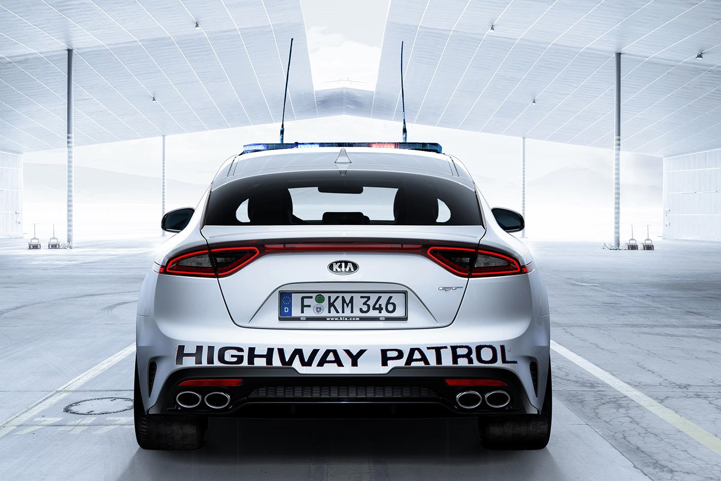 Kia Stinger GT Highway Patrol car rear