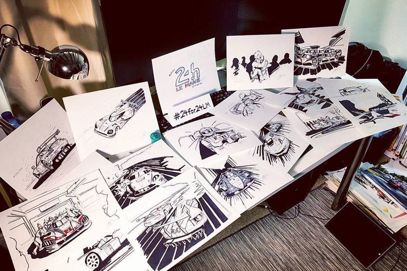 Jayson Fong 24 Sketches during Le Mans