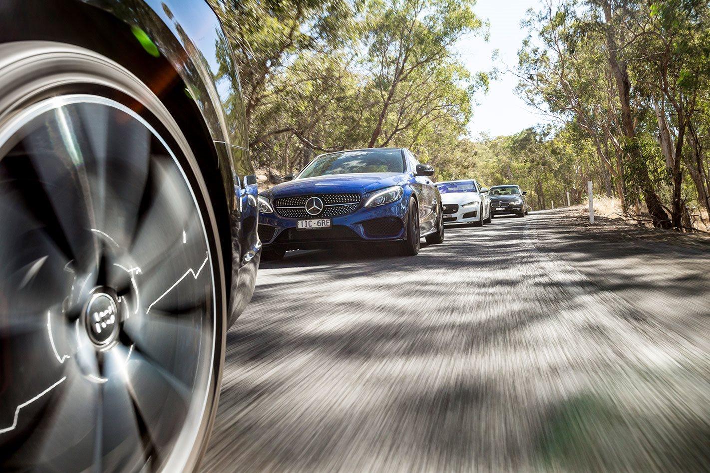 Mercedes-AMG-C43 driving