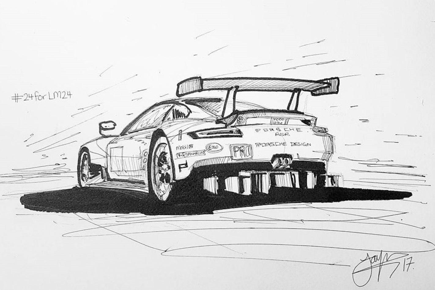 Jayson Fong 24 Sketches Race Car