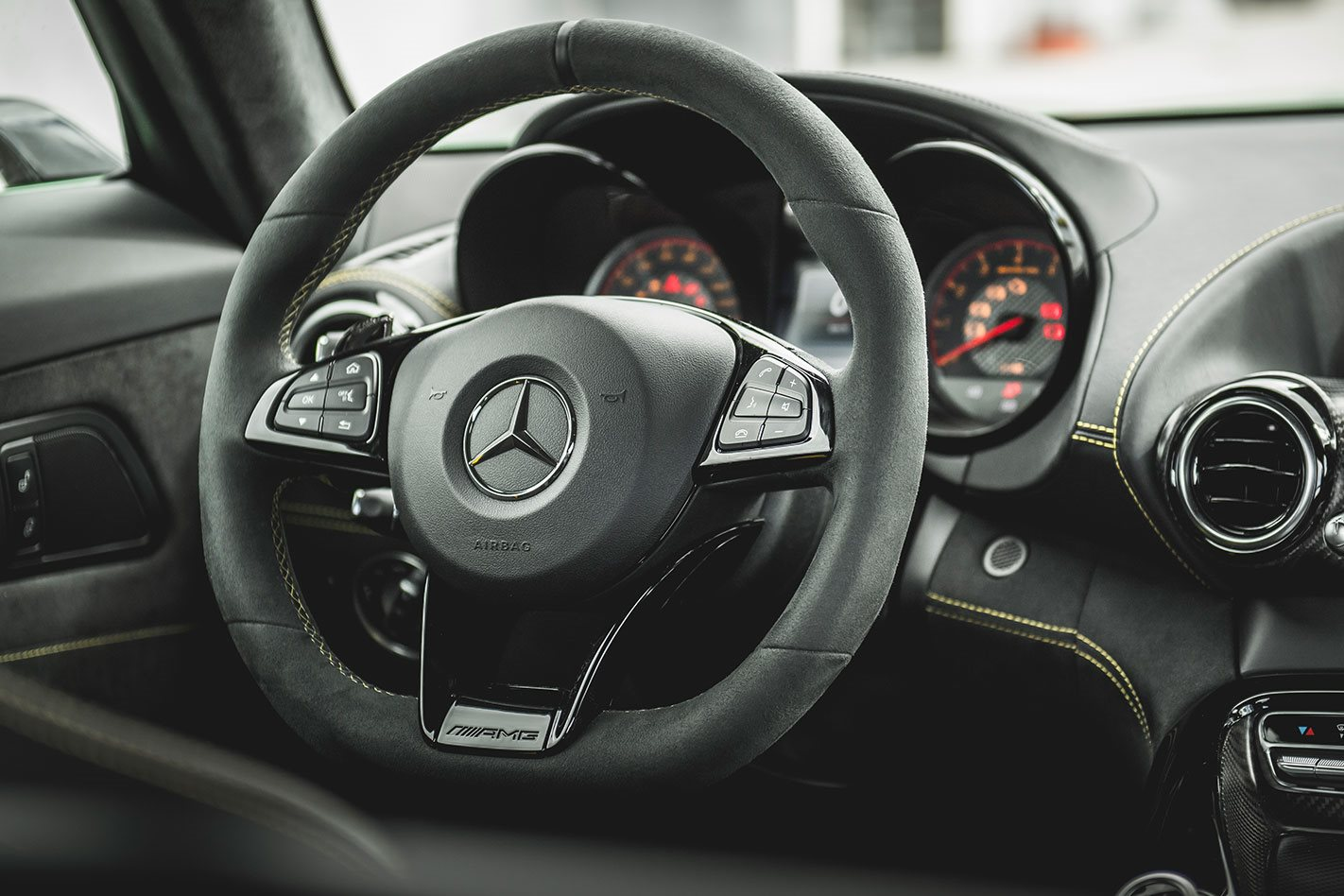 Mercedes AMG GT R steering wheel