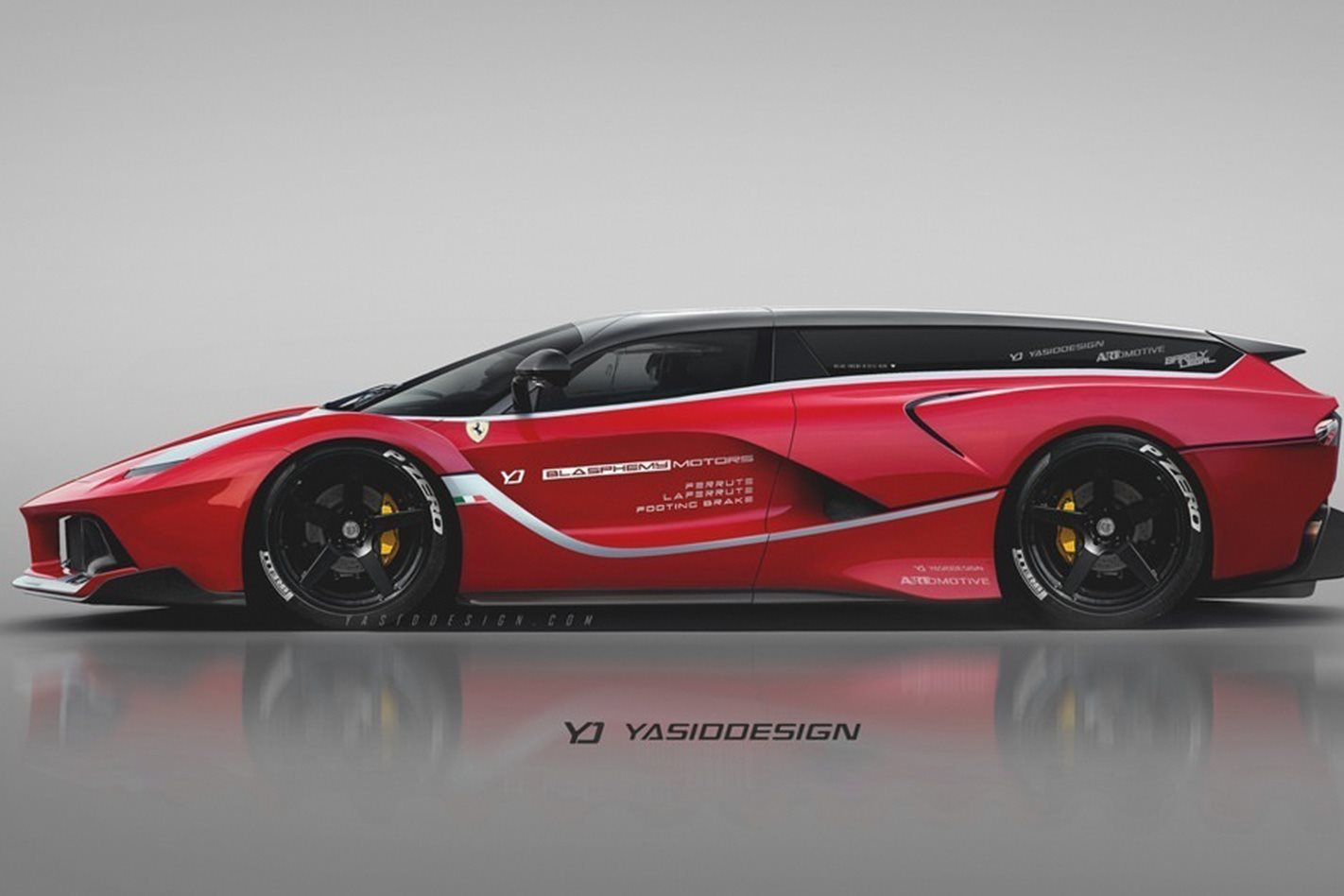 Supercars rendered as wagons and utes