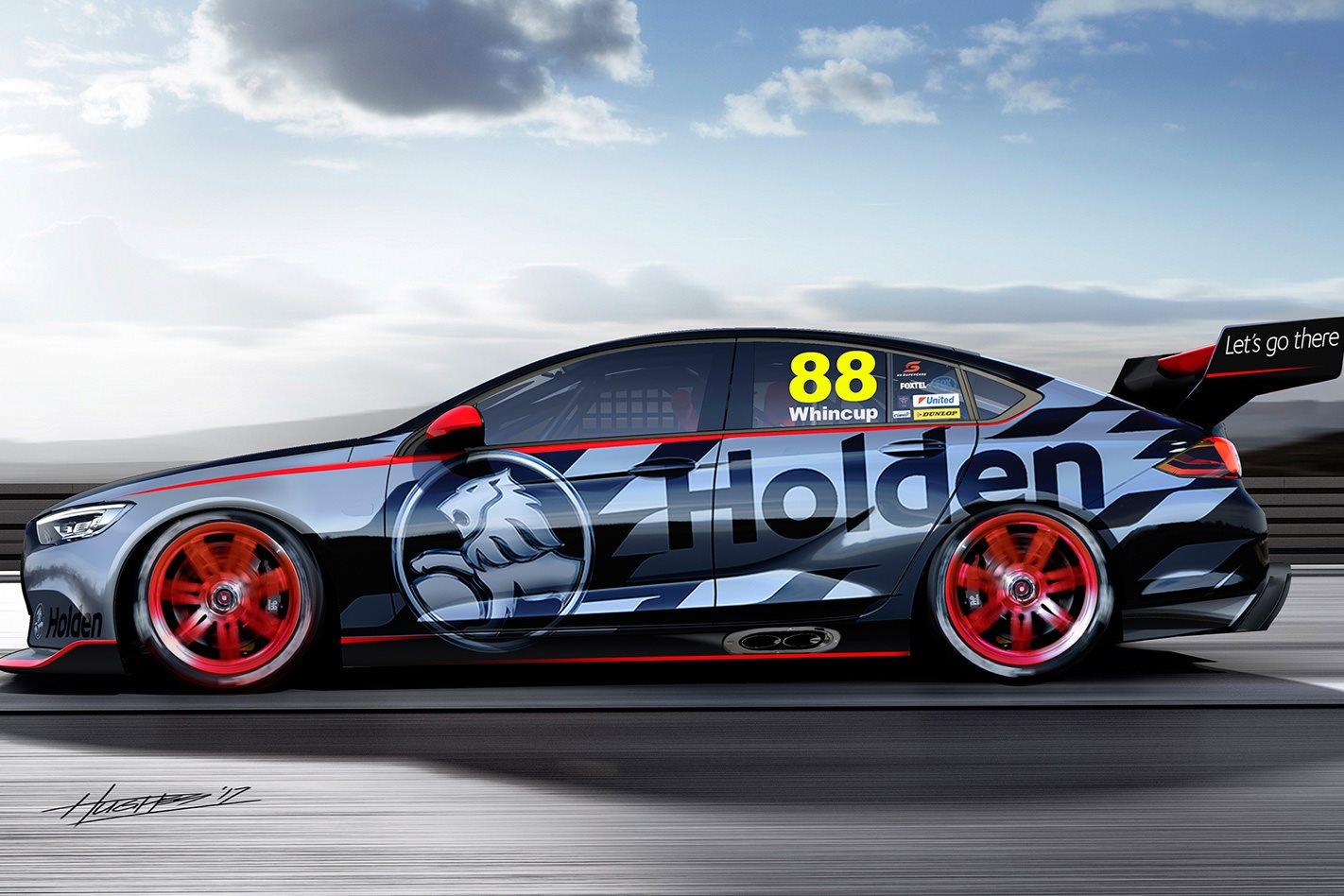 Holden V6 Supercar side profile