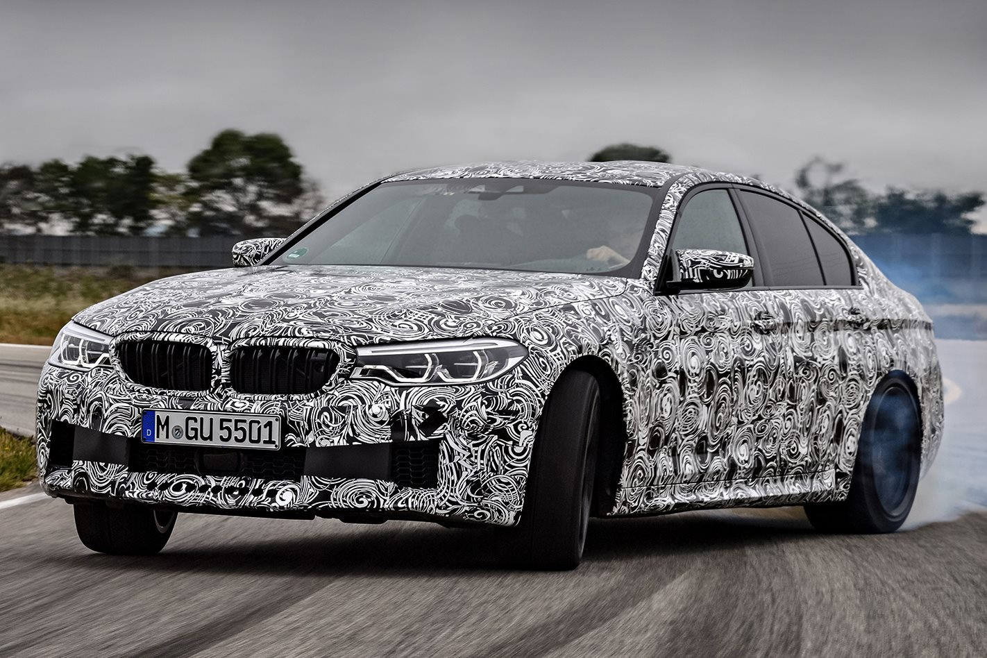 BMW F90 M5 prototype drift