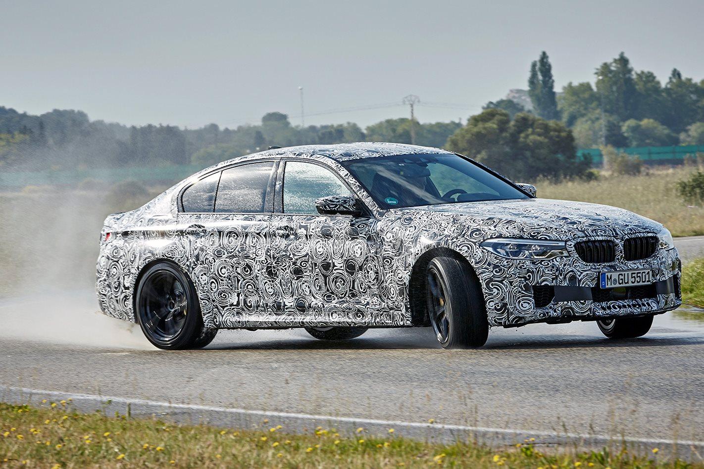 BMW F90 M5 prototype drifting