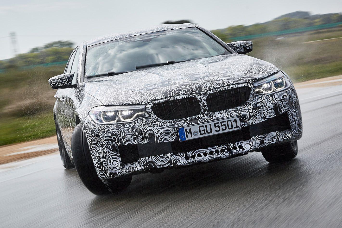 BMW F90 M5 prototype corner