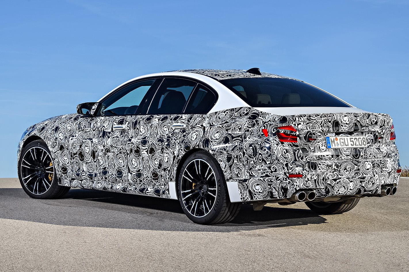 BMW F90 M5 prototype rear