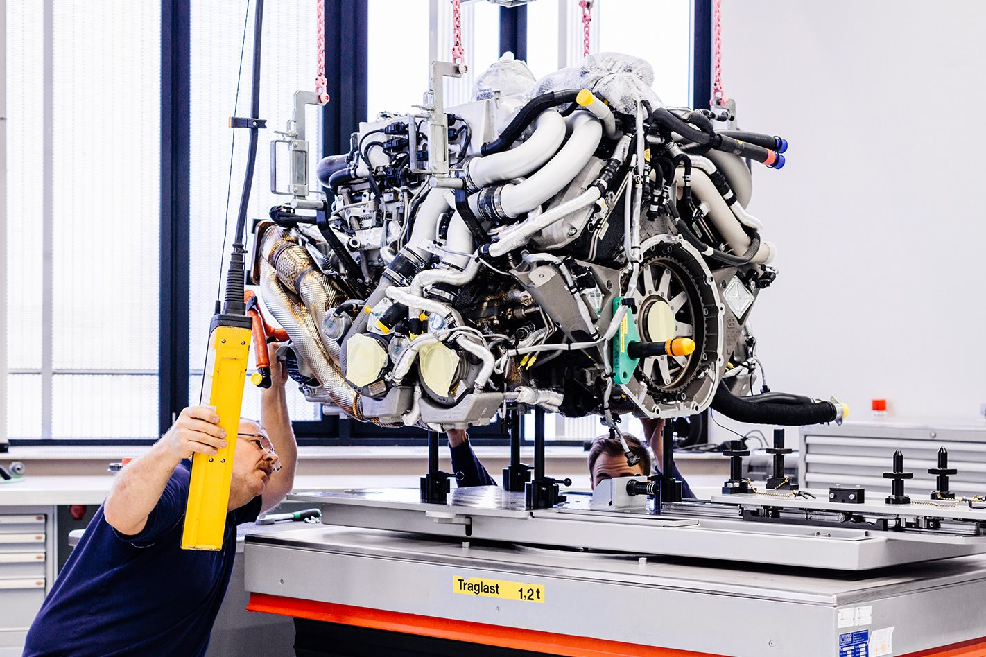 Bugatti factory engine