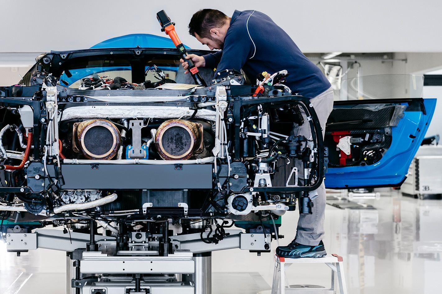 Bugatti factory building car