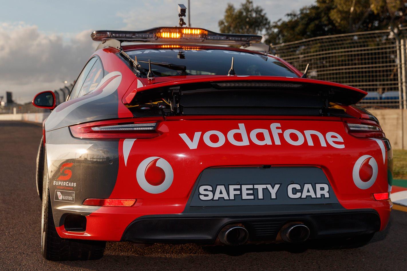 Porsche unveils 911 Carrera 4S Safety Car rear