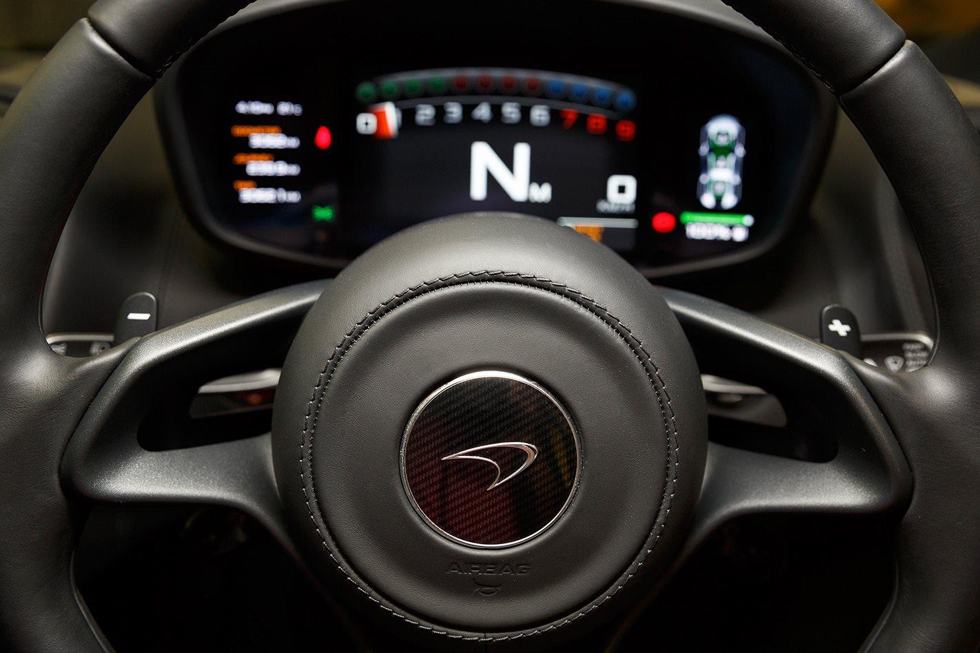2017 McLaren 570S steering wheel