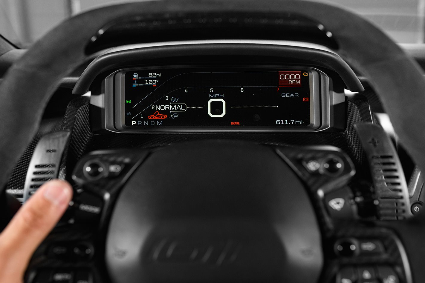 2017 Ford Mustang GT steering wheel