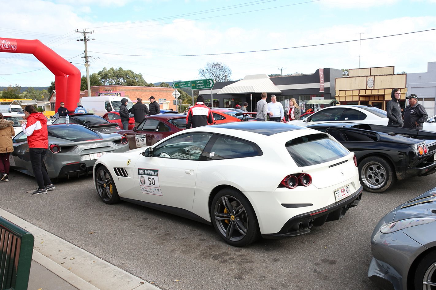 2017 Ferrari GTC4 Lusso official start to the race