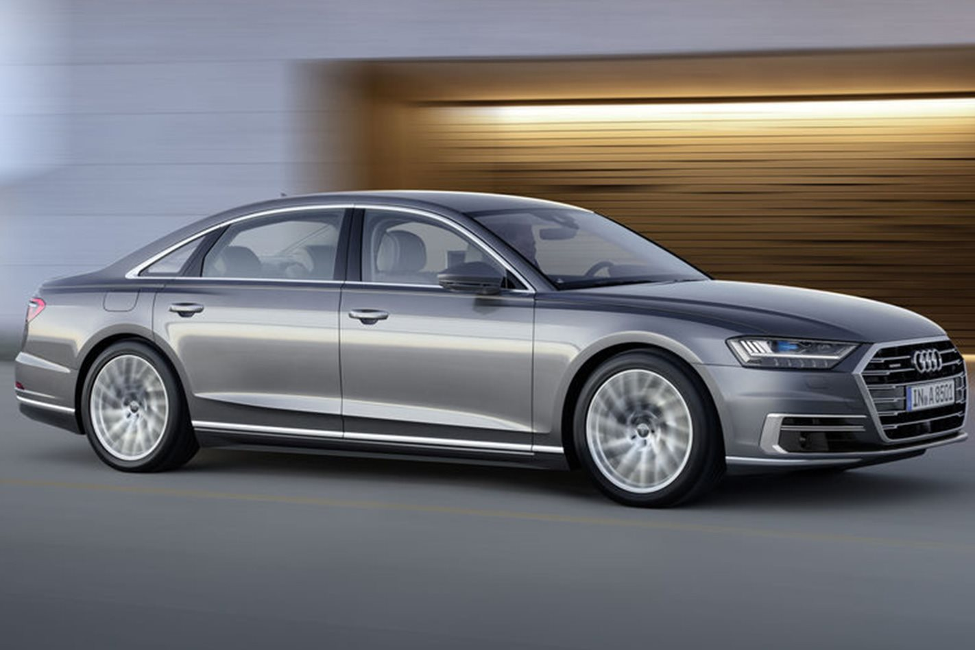 2018 Audi A8 side profile