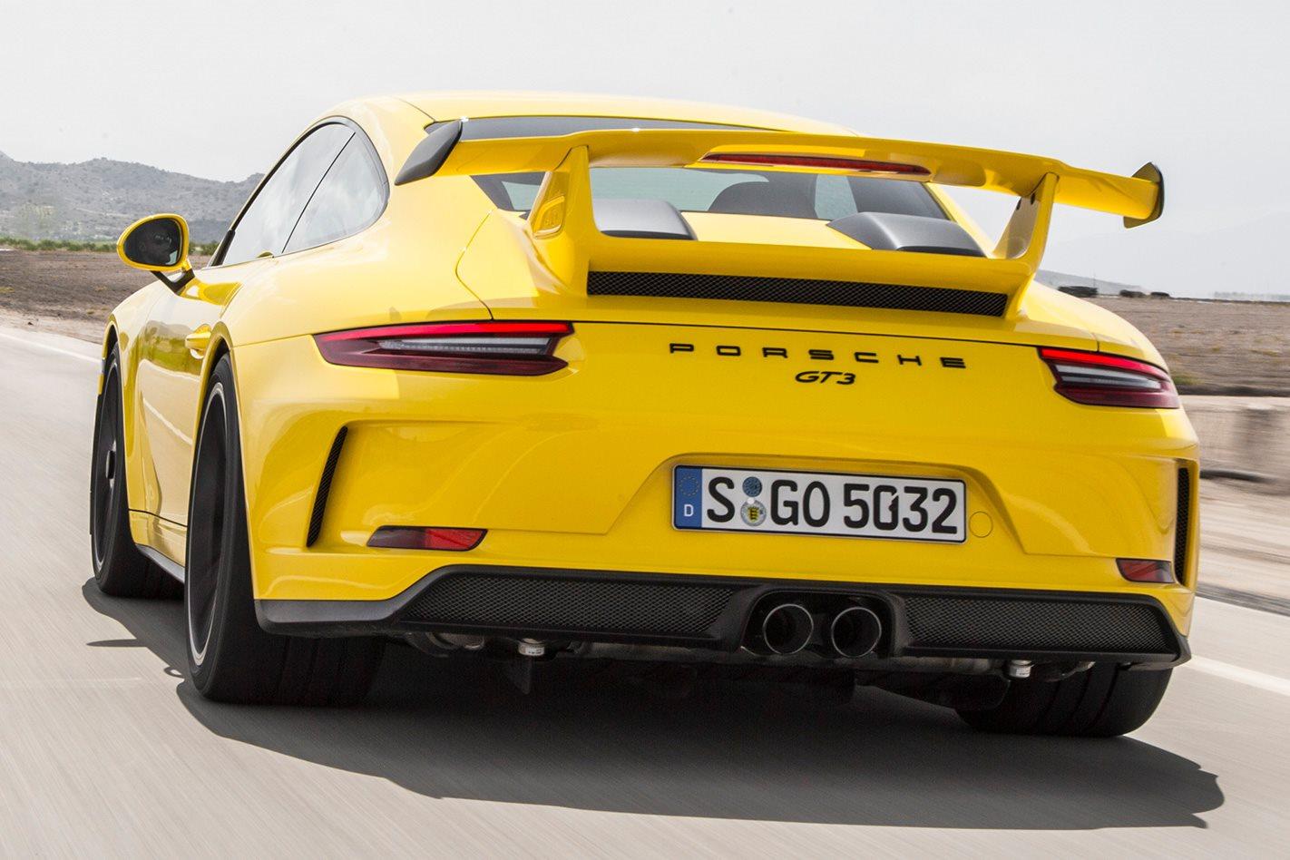2017 Porsche 911 GT3 manual rear