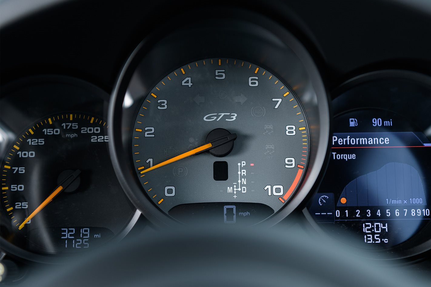 2017 Porsche 911 GT3 manual speedo