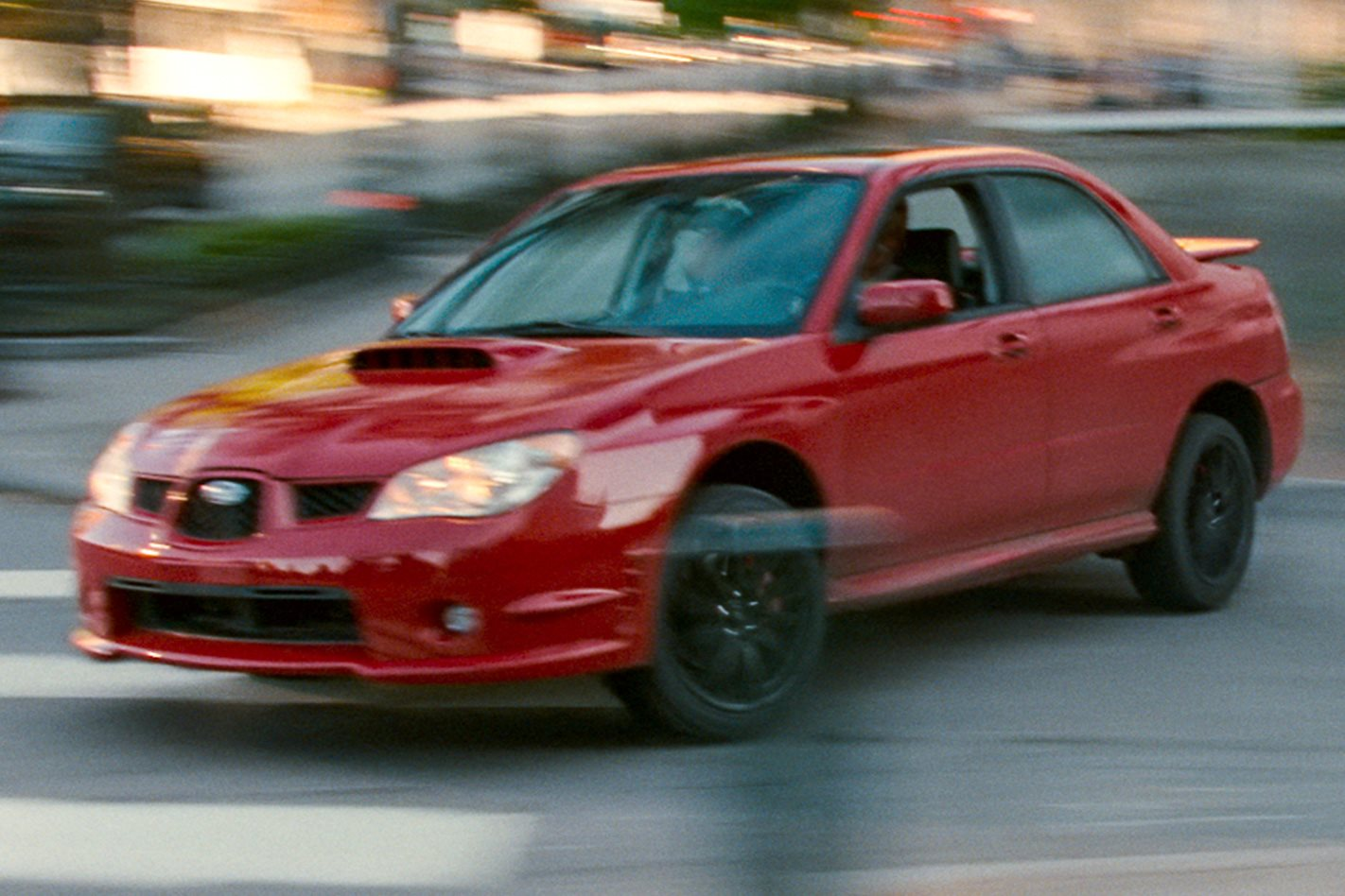 Baby Drivers Subaru WRX getaway scene